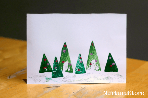 Christmas card crafts kids