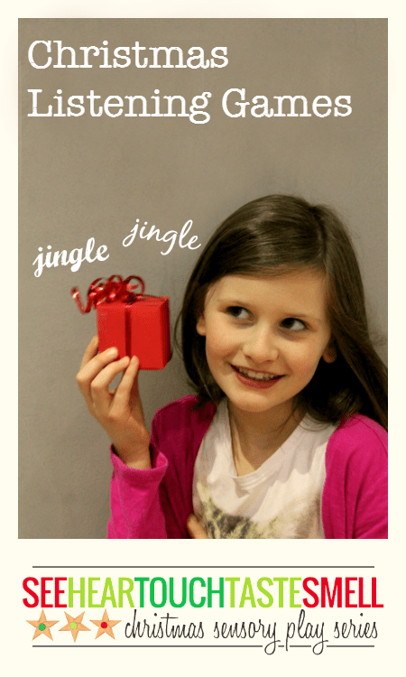 Fun Christmas listening games for children - part of the Christmas sensory play series