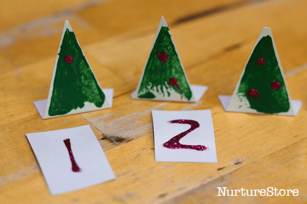 Christmas tree math games for preschool - NurtureStore