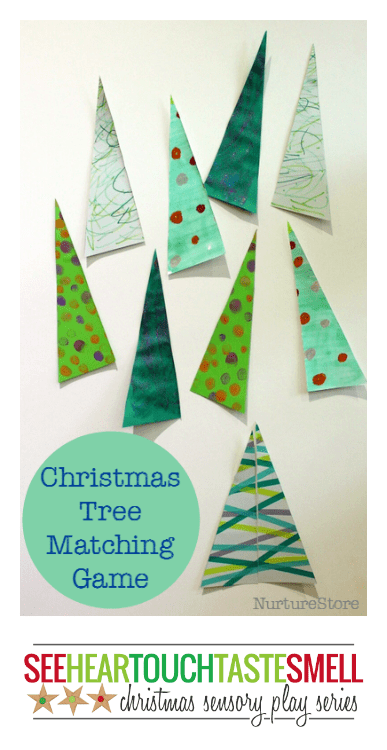 Christmas sensory play series :: #1 Christmas Tree matching Game