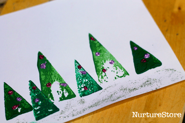 Christmas tree card preschool