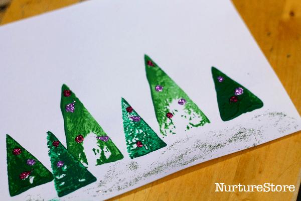 Christmas tree card preschool