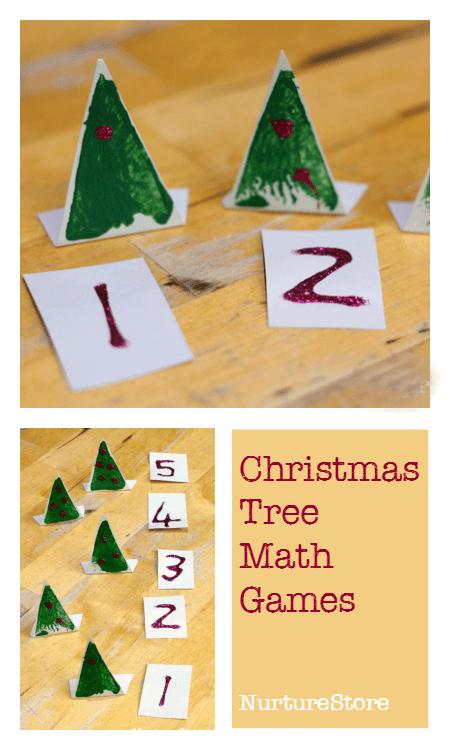 Christmas tree math activities for preschool