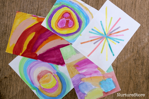 child's art christmas card
