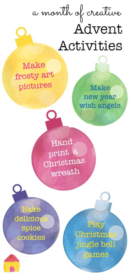 Creative Advent activities for kids - NurtureStore