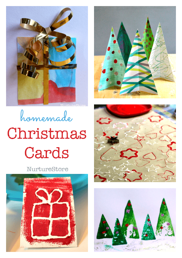 Easy Christmas Cards To Make With Children.Easy Christmas Cards For Children To Make Nurturestore