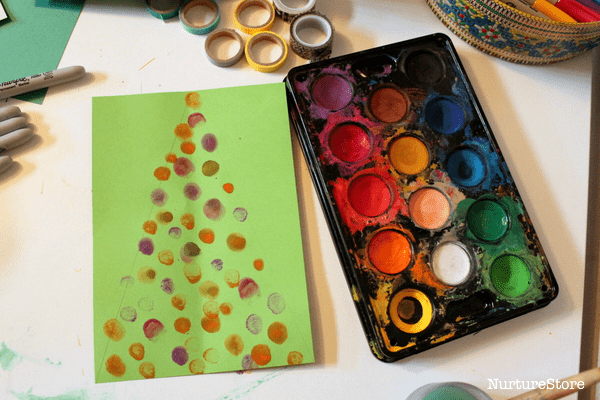 finger print Christmas craft