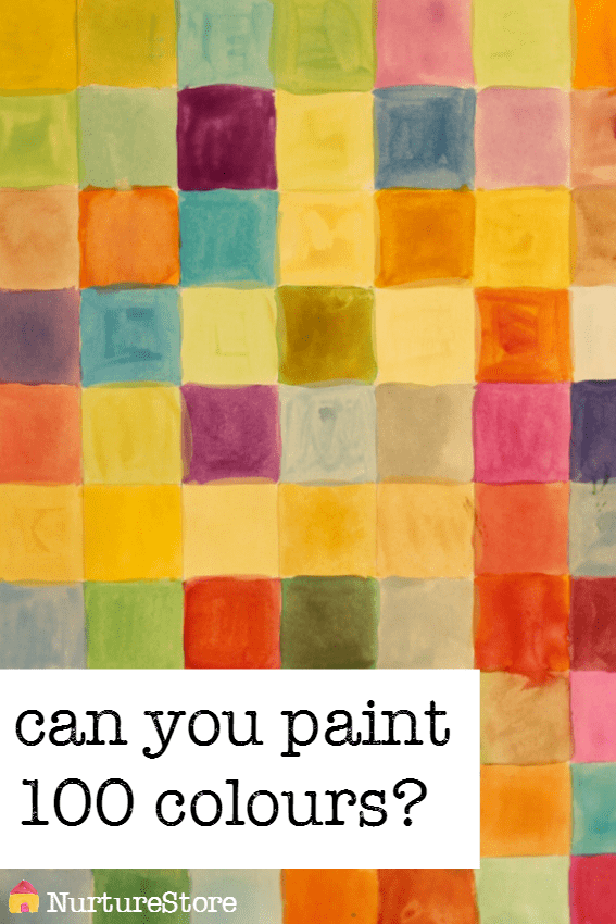 So pretty! Love this 100 colours challenge - great art and math activity, great STEAM activity