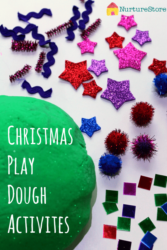 Great ideas for Christmas sensory play activities with lots of Christmas play dough recipes