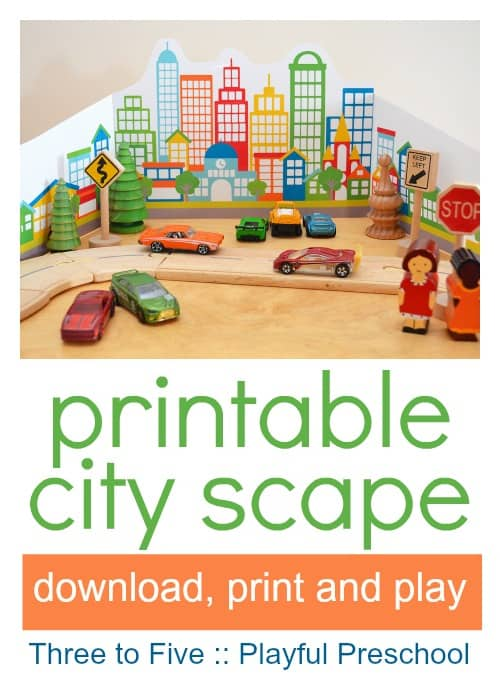printable city for pretend play