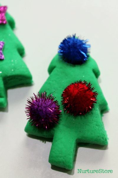 sensory christmas play dough activities
