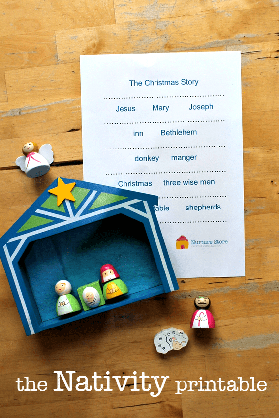 the nativity printables for language arts centers