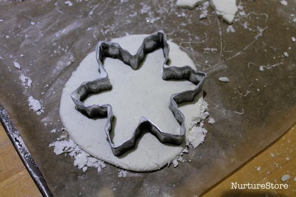 white clay recipe snowflakes