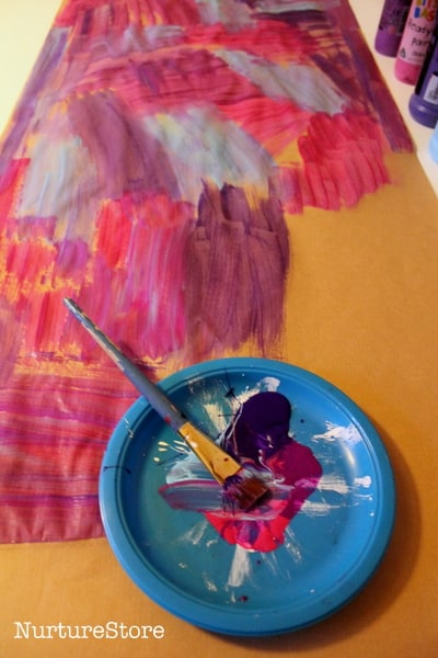 large scale art projects for kids