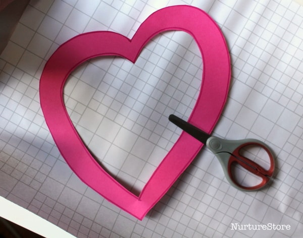 scissor skills craft for Valentines Day