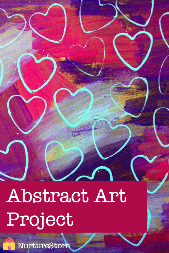 Fantastic abstract art project for school or home with kids