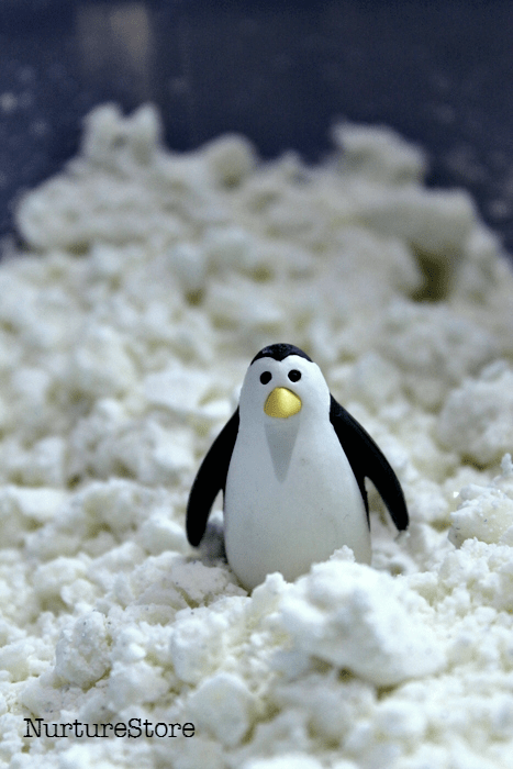 cloud dough penguin play