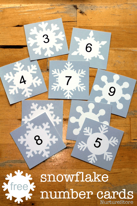 free number cards printable - use to make 'magic' numbers! Alphabet printable version too.
