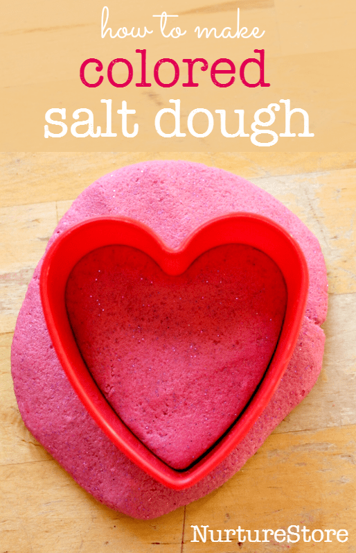how to make colored salt dough recipe