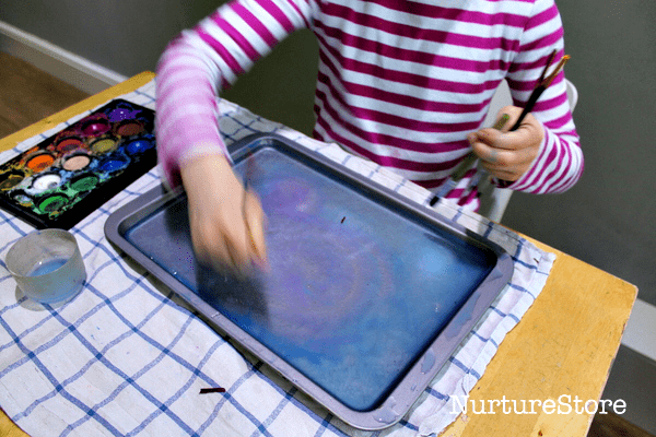 ice painting winter art