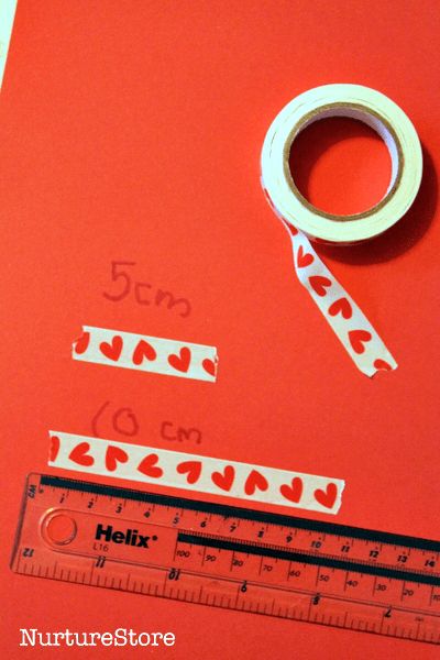 measuring activity preschool Valentine