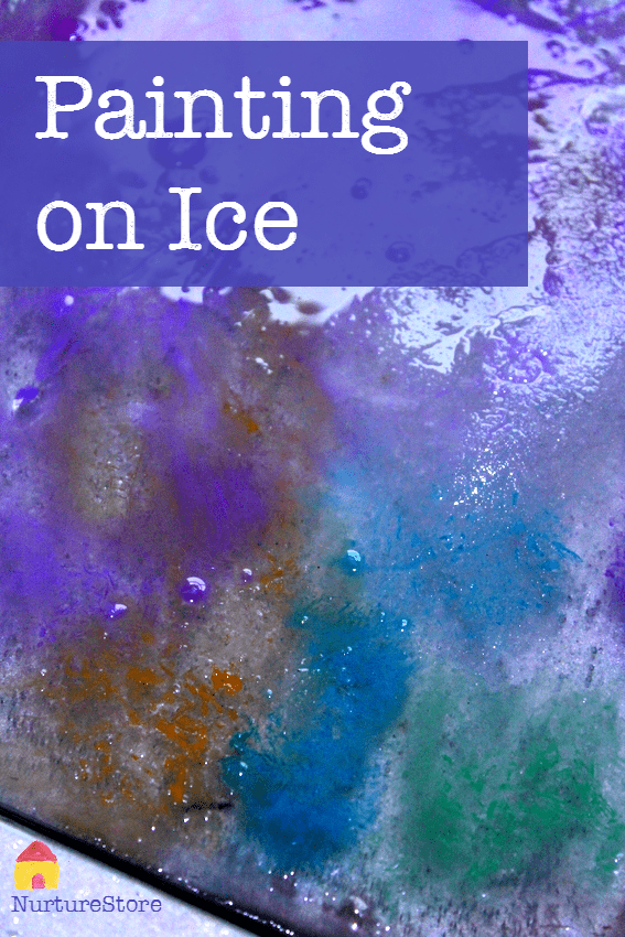 painting on ice - great winter art projects