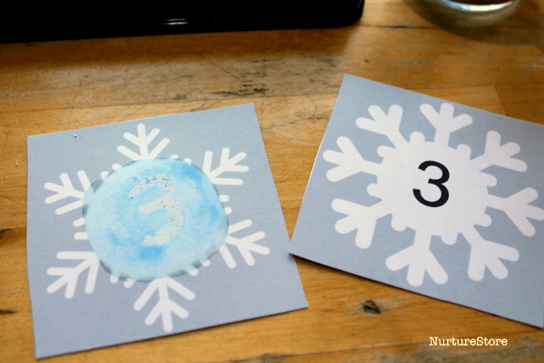 printable snowflake number cards