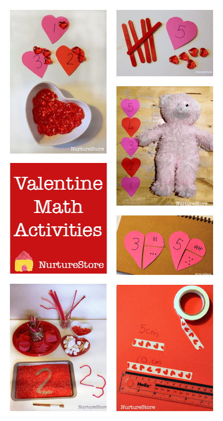 Lots of valentine math activities