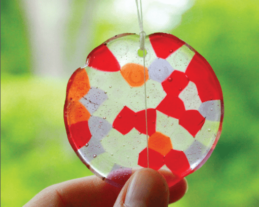 how to make suncatchers from melted beads