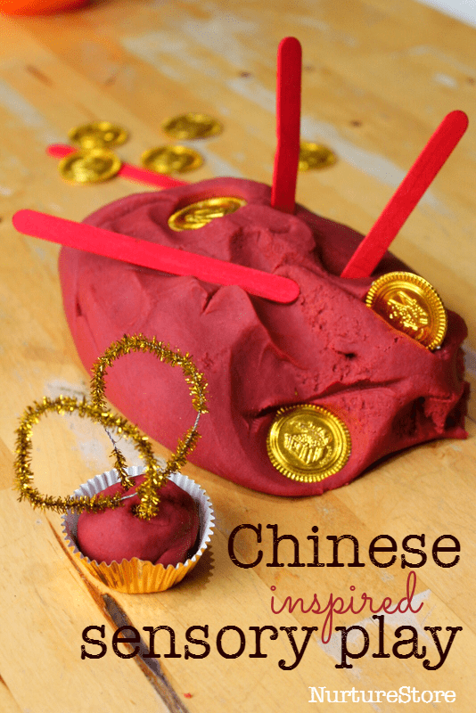 Chinese New Year Sensory Play With Spice Play Dough
