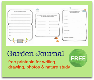 free garden journbal sidebar