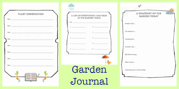 garden journal images