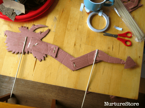 make a puppet for chinese new year
