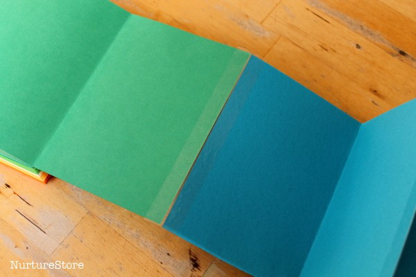 how to make a zigzag book