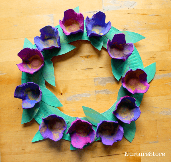 easy flower paper plate wreath