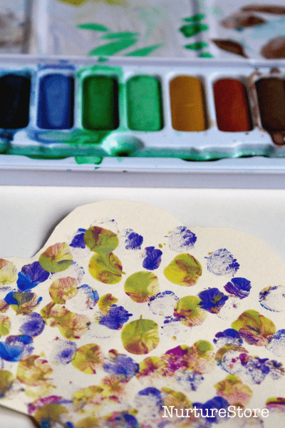 finger painting spring craft