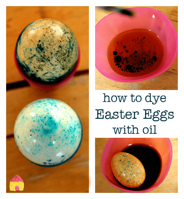 how to dye easter eggs with oil