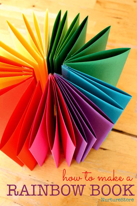 How to make a rainbow zigzag book - NurtureStore