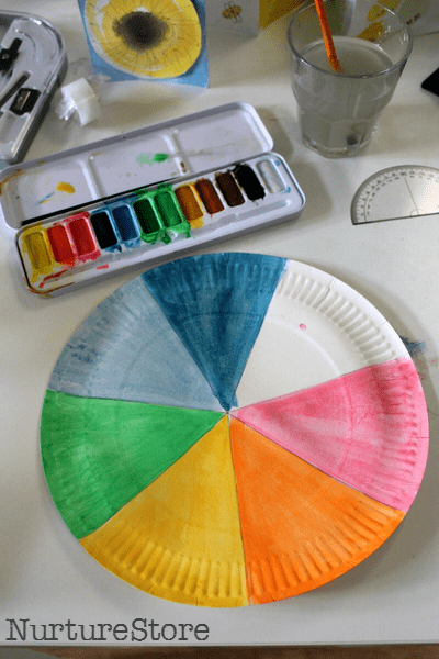 rainbow paper plate spinner