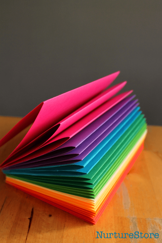simple journal for kids rainbow book
