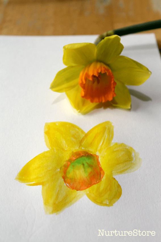 watercolour daffodil