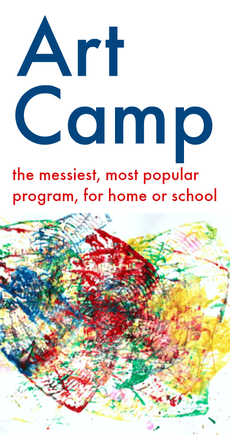 art camp activities, messy art projects for kids