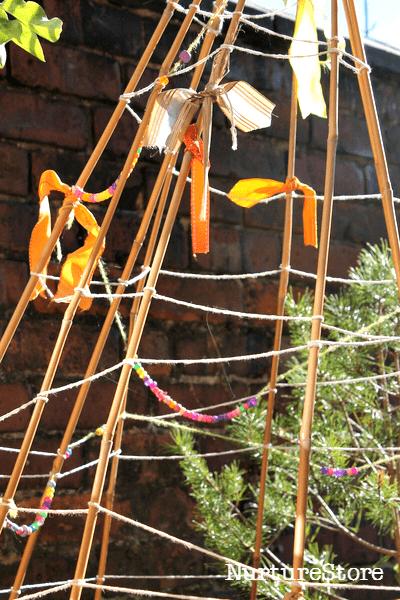 bamboo den