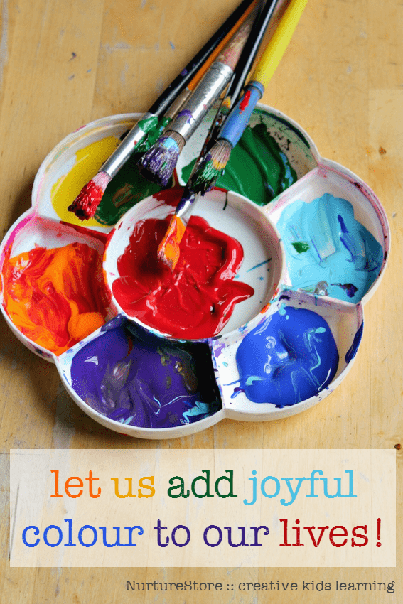 let us add joyful colour to our lives