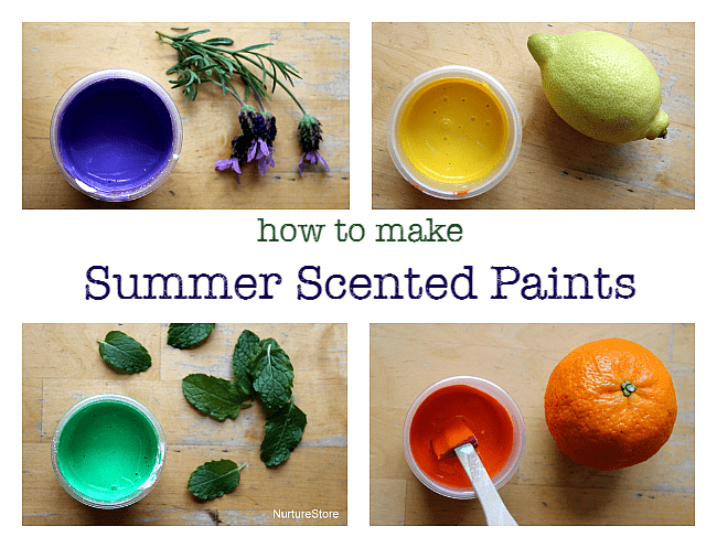 how to make scented paints