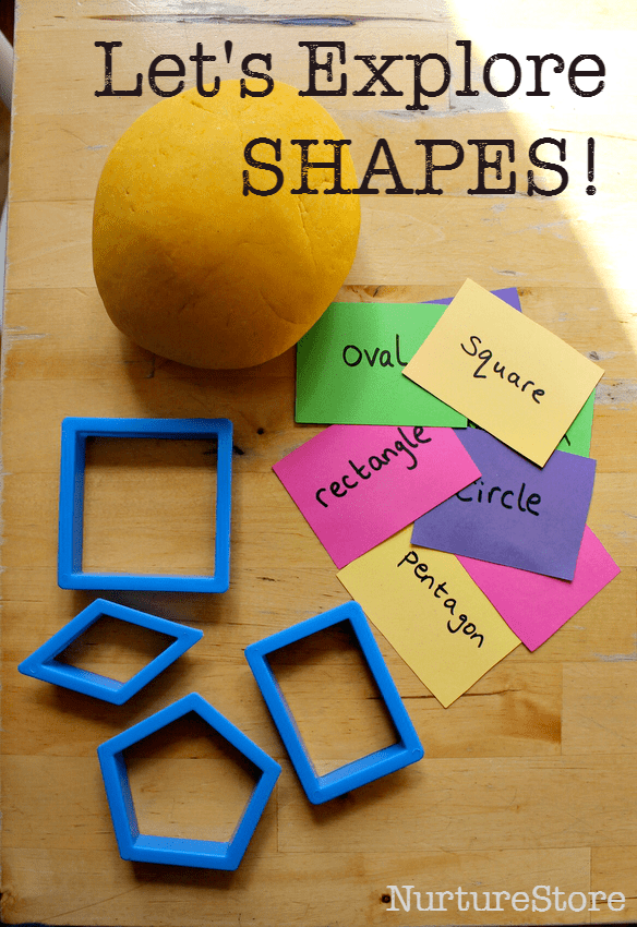 Great ideas to explore shapes using play dough