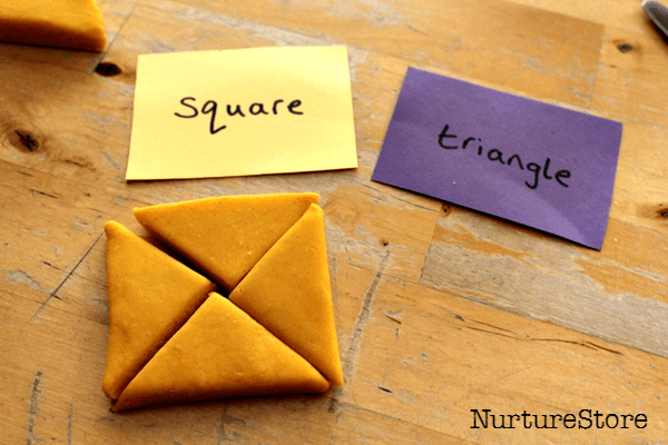 squares and triangles activity