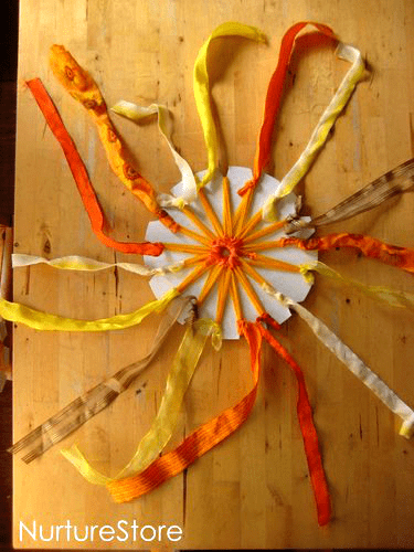 sun weaving solstice craft