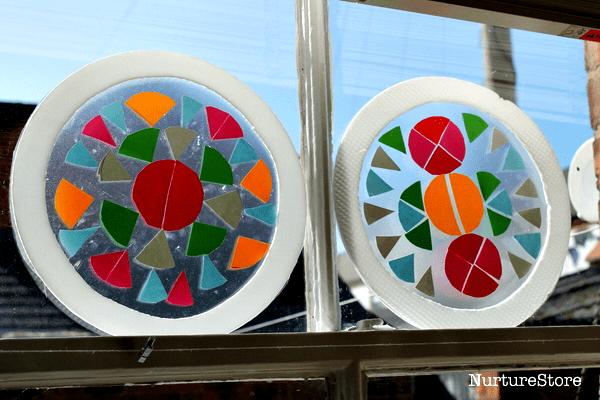 circle contact paper suncatchers