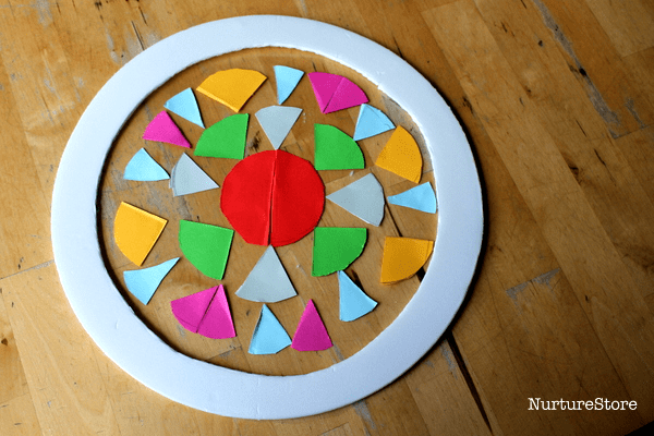 circle art exploring shapes